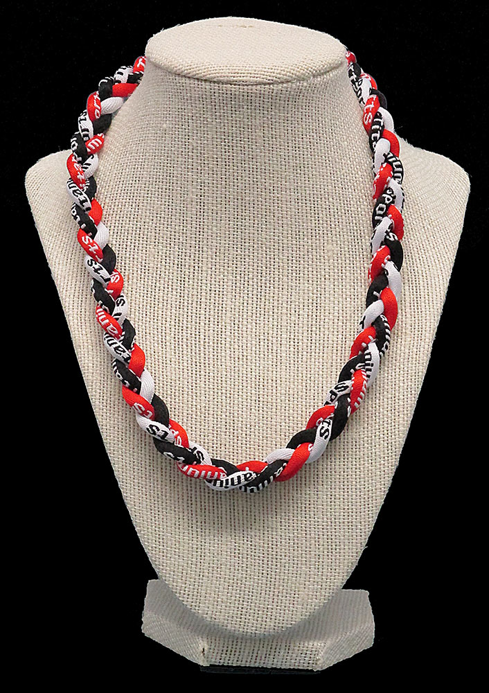 Rope Necklace - Red White Black