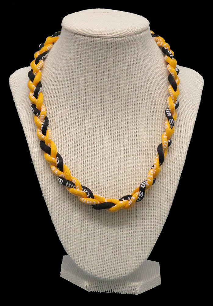 Rope Necklace - Yellow Black Yellow