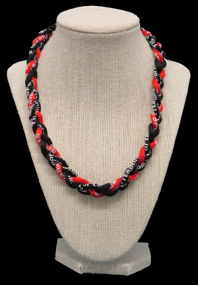 Rope Necklace - Black Red Black