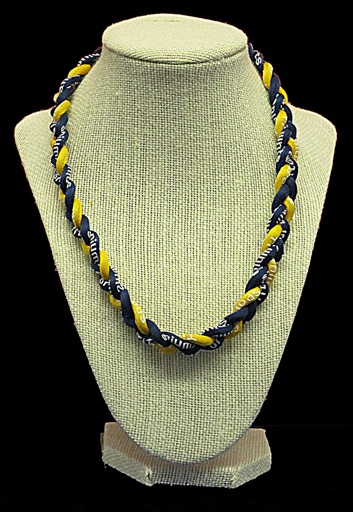 Rope Necklace - Navy Yellow Navy
