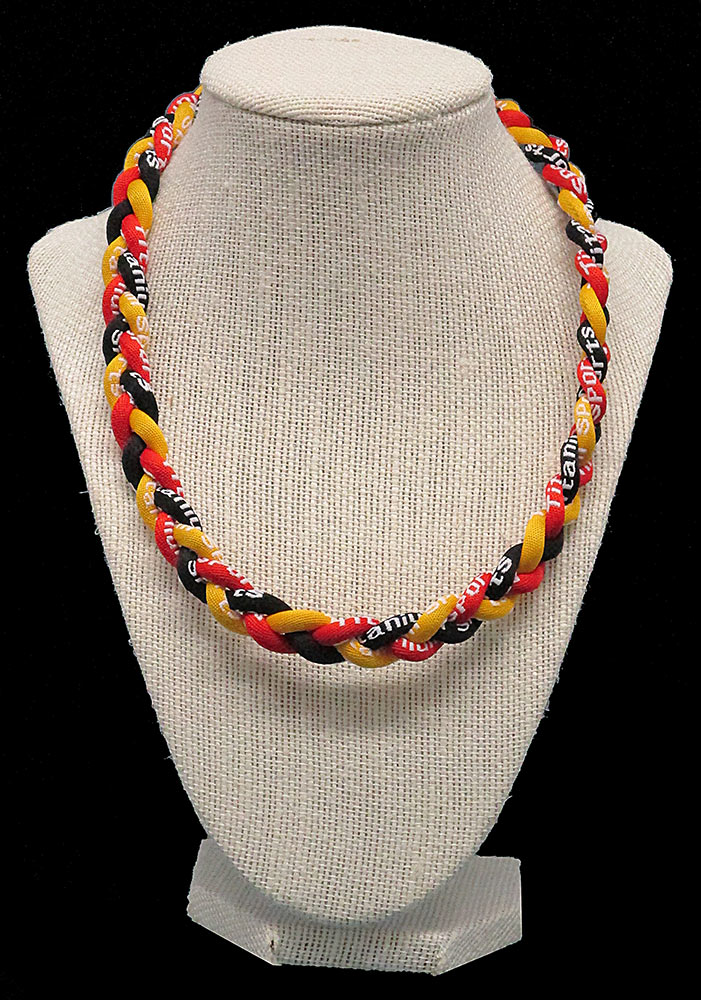 Rope Necklace - Red Yellow Black