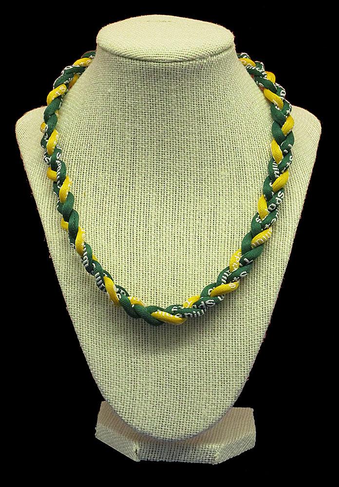 Rope Necklace - Deep Green Yellow Deep Green