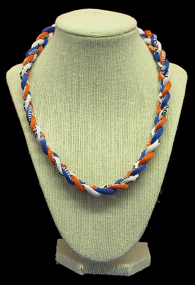 Rope Necklace - Orange White Royal
