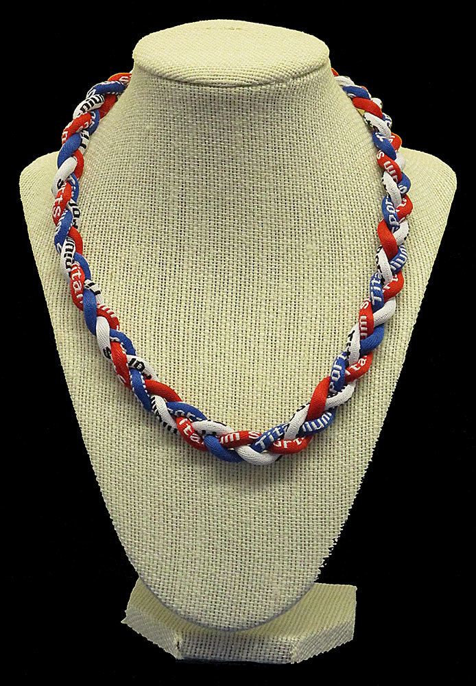 Rope Necklace - Red White Royal