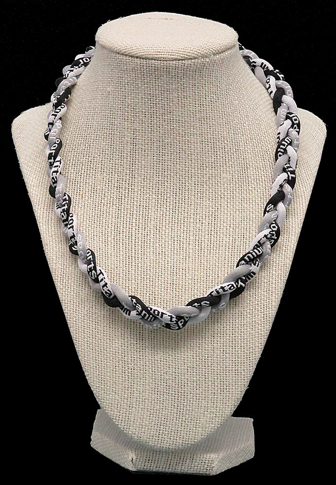 Rope Necklace - Black White Grey