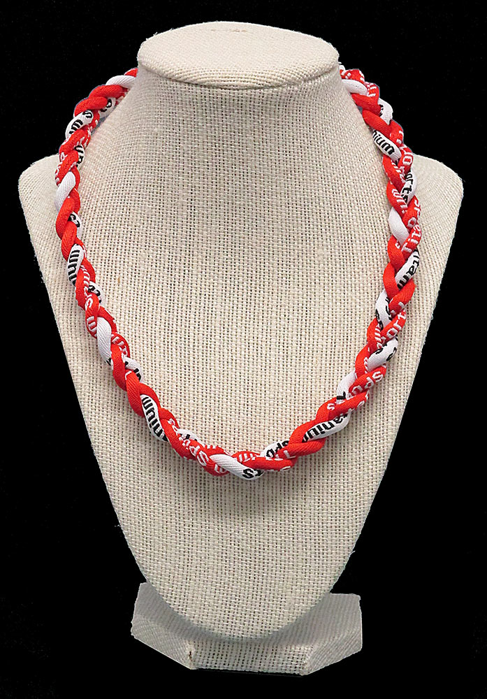 Rope Necklace - Red White Red