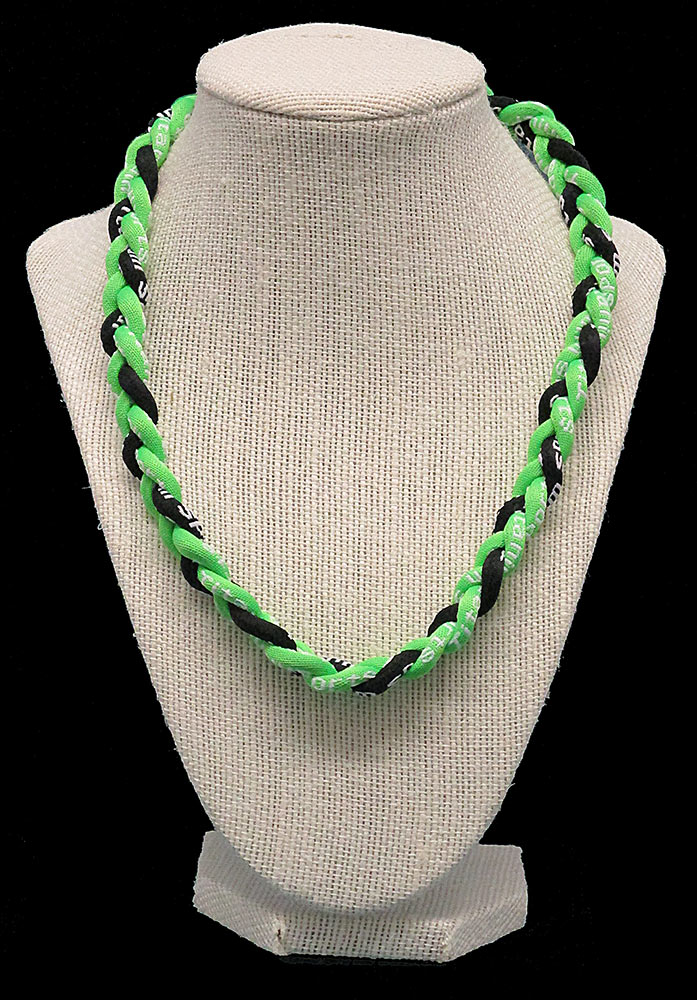 Rope Necklace - Neon Green Black Neon Green