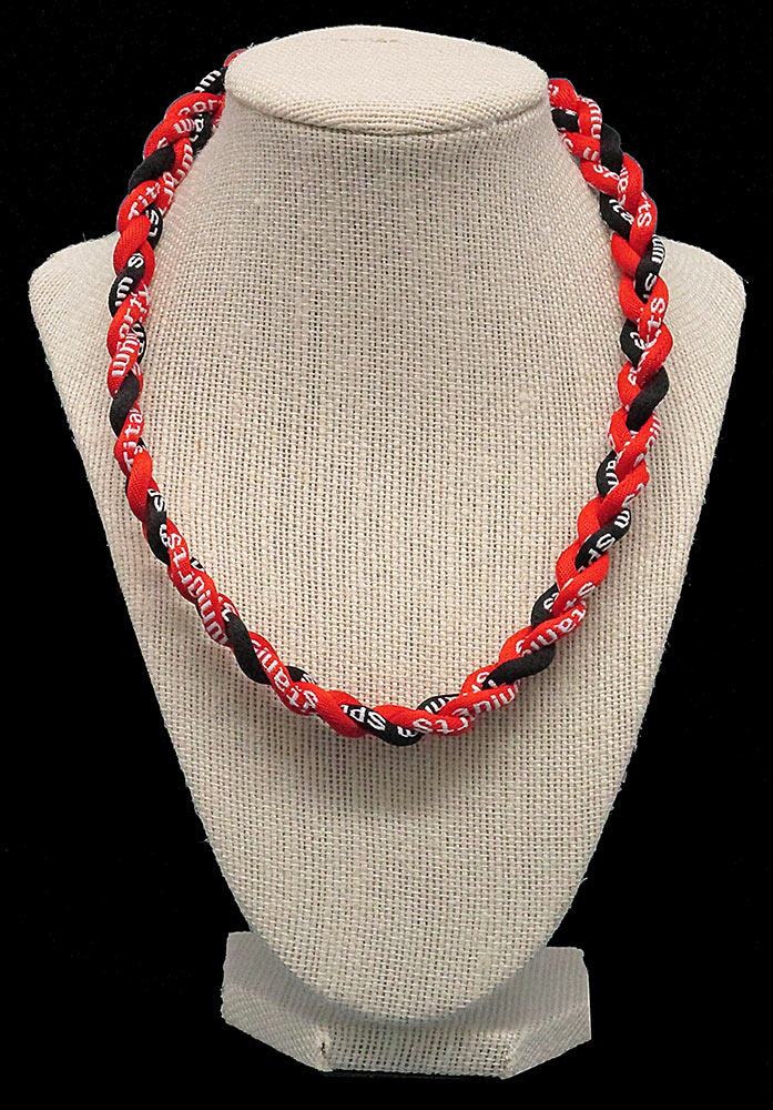 Rope Necklace - Red Black Red